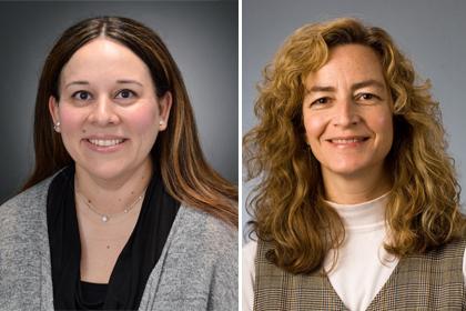 Maria Mercedes Avila, Ph.D., left, and Eileen Cichoskikelly, Ph.D.