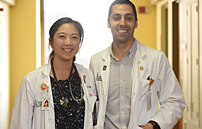 Katherine Wang, M.D.'17 and Mustafa Chopan, M.D.'17