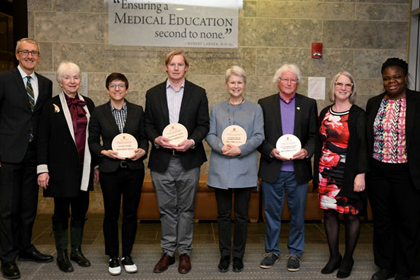 Gender Equity Awards Winners with Dean Page and Dr. Tandoh