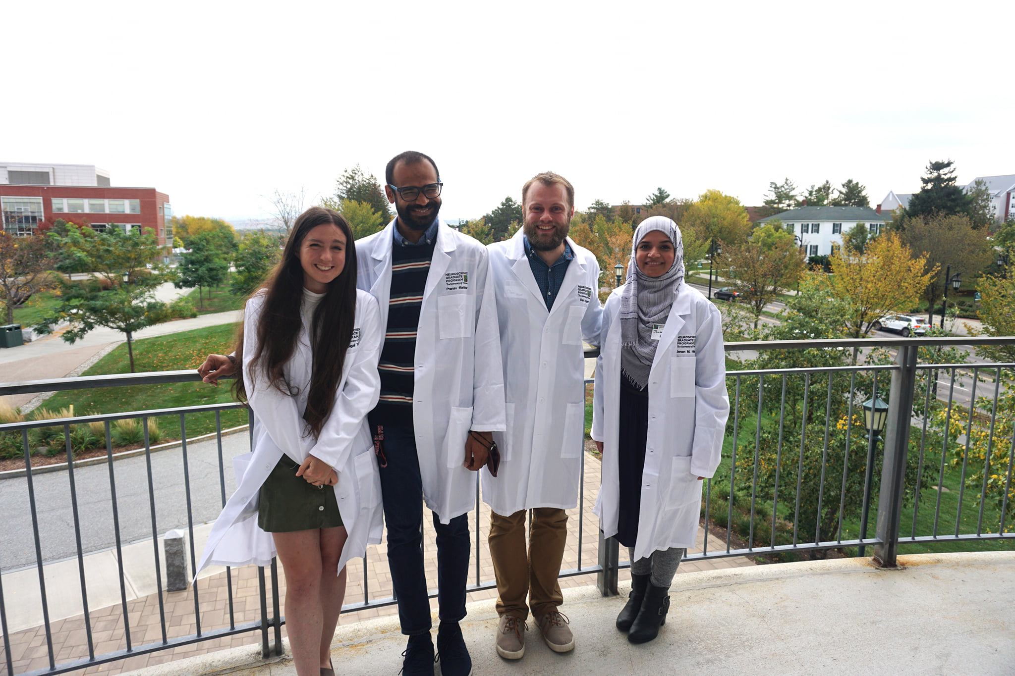 NGP students pose in their white coats
